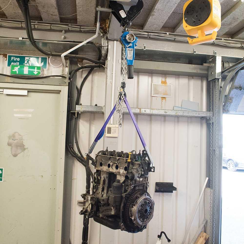 Polipasto De Palanca 750kg Max Taller Garaje Motor De Elevación Elevación Cabrestante Resistente Nuevo