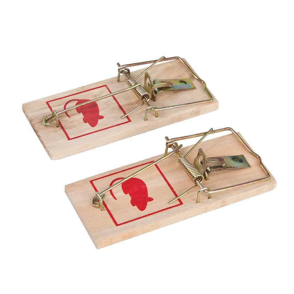 2x Clásico Pequeño De Madera Mini Mouse Rata Trampa de roedores captura tradicional humano